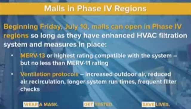 Malls will be opening on Friday, July 10 with some restrictions in place.