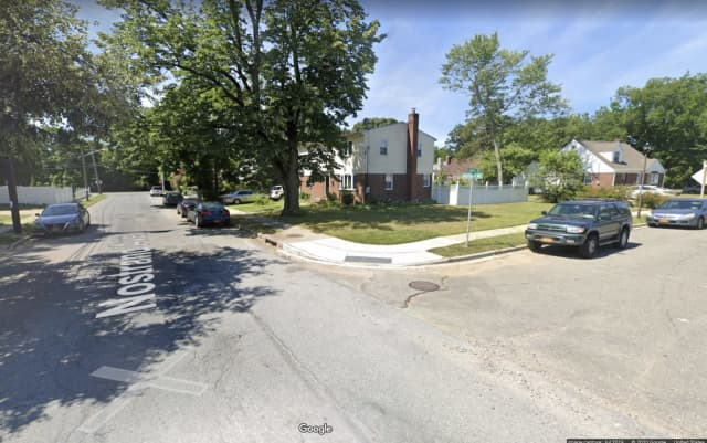 The area of the shooting at Planders Avenue and Nostrand Avenue in Uniondale.