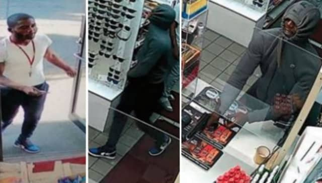 Authorities in Newark are seeking the public's help identifying a man they say robbed two employees at a gas station at gunpoint.