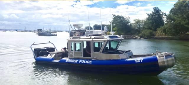The Darien Police Marine Unit made a rescue