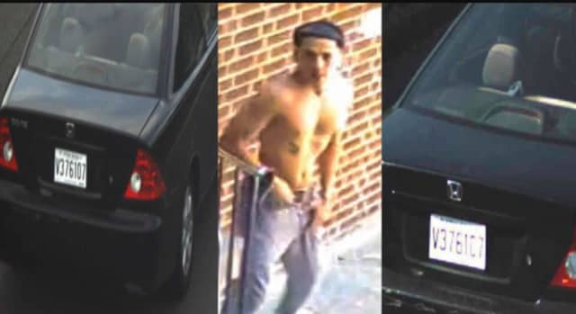 Know him or this car? The Hudson County Sheriff's Office is seeking the public's help identifying a man involved in a North Bergen hit-and-run that seriously injured a bicyclist in a North Bergen park.
