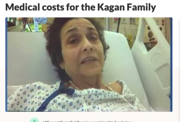 Margot Kagan recovers at the hospital after a Hackensack attack that left her with a broken tibia.