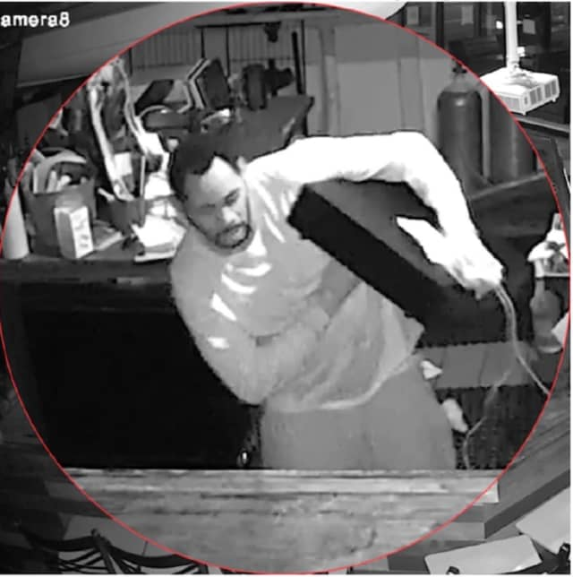 A suspect who stole a cash drawer from a restaurant in Bridgeport is at large and police are asking the public for help in identifying and finding him.