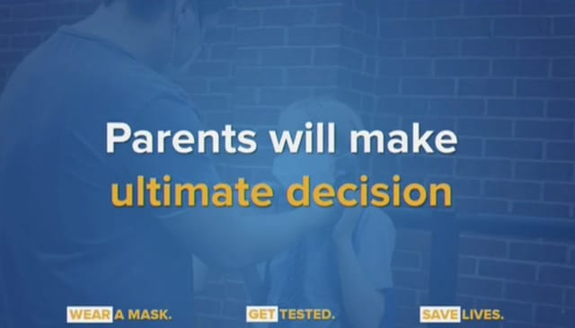 New York Gov. Andrew Cuomo said that parents will make the ultimate decision on reopening schools.