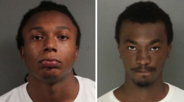 Zamir Dickerson, 18, and Sincere Cureton, 18, both of Newark