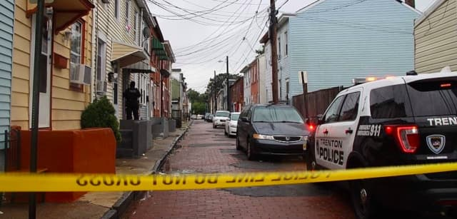 The scene of a shooting on Sunday in Trenton (Courtesy of Peterson's Breaking News)
