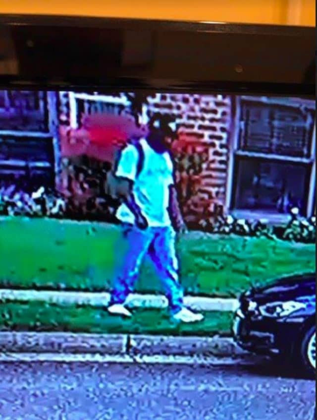 Surveillance footage of the suspect