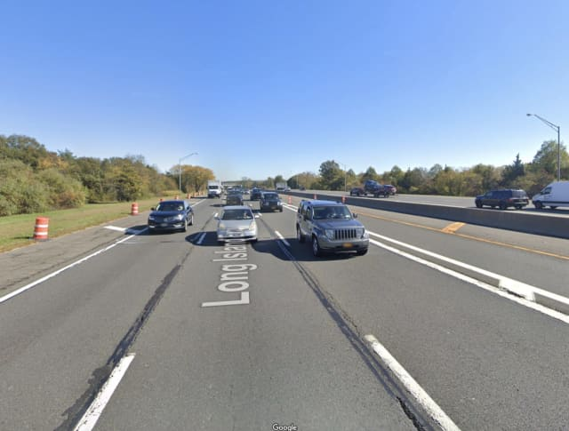 A Peekskill man was shot in the leg while driving on the Long Island Expressway in Melville.