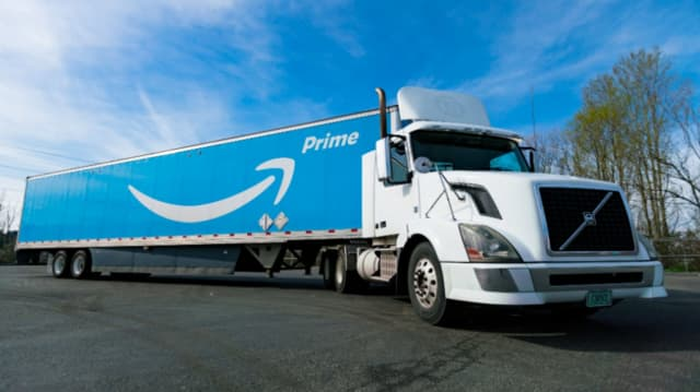 Amazon delivery trailer