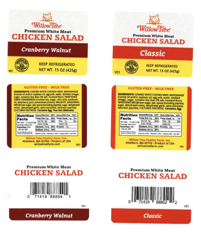 A popular chicken salad product is being recalled