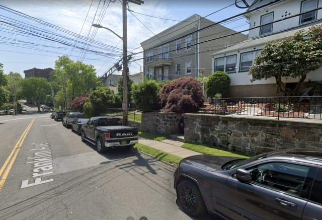 A fire broke out at 157 Franklin Ave. in New Rochelle.