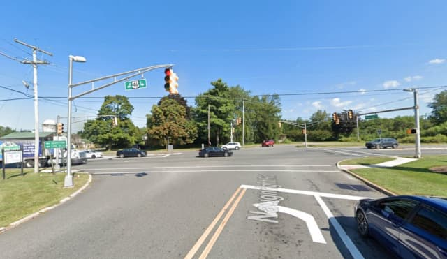 Intersection of Naughright Road and Route 46 in Hackettstown