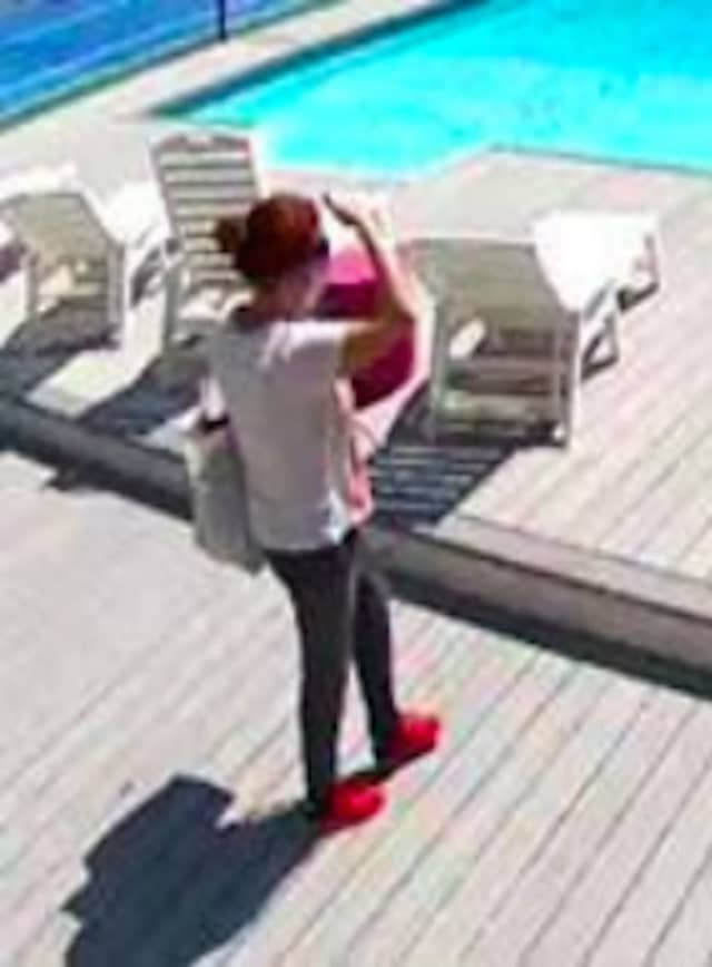 Surveillance footage of the wanted woman