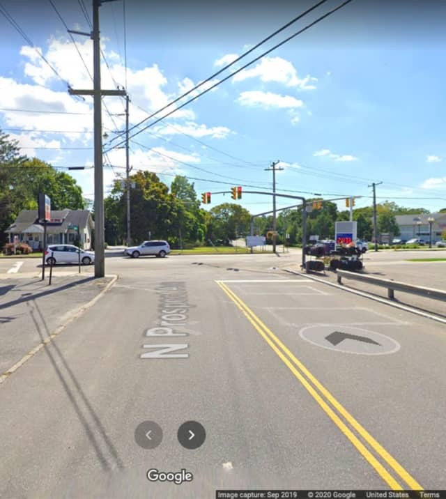 Montauk Highway and North Prospect Avenue in Patchogue.