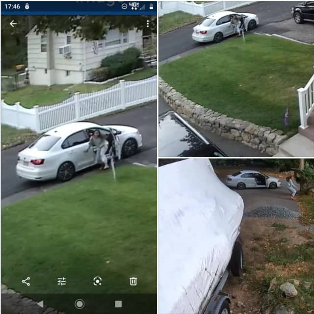 Police are on the lookout for a woman who was captured on surveillance footage stealing pro-police signs from several Denville front yards over the weekend.