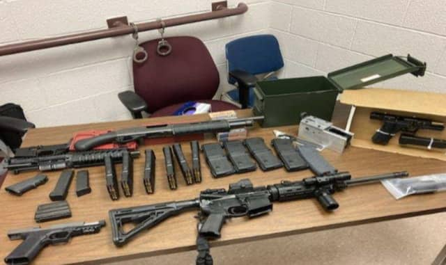 A 29-year-old New Rochelle resident was busted with illegal weapons and ammo.