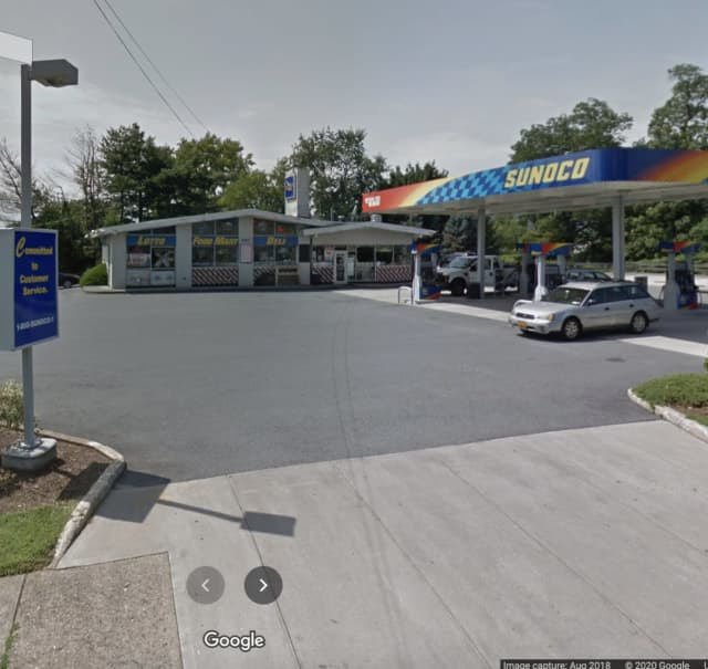 Police are searching for a man who robbed a gas station at gunpoint.
