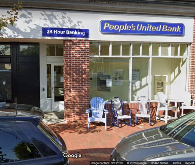 People's Bank located at 95 Main Street in New Canaan.