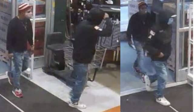 Know them? Police are asking for help identifying the men who allegedly robbed a Dicks Sporting Goods store.