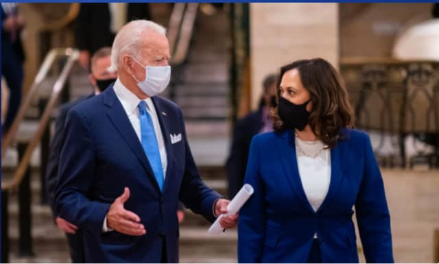 Joe Biden and Kamala Harris vowed to wear masks and enforce facial coverings over his first 100 days.