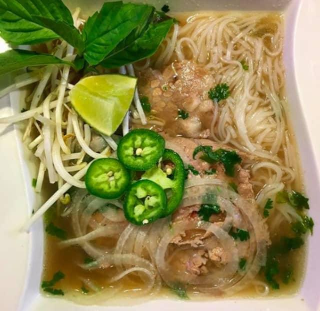 Pho from Saigon Cafe in Millburn.