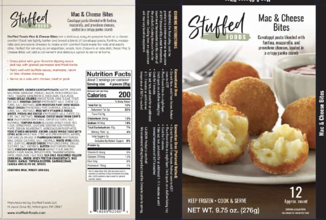 Stuffed Foods LLC, a Wilmington, Mass., establishment is recalling approximately 1,818 pounds of snack products due to misbranding and an undeclared allergen