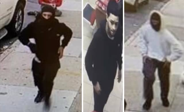 Police are on the lookout for two suspects involved in a series of shootings and armed robberies earlier this week. (Left and middle: Suspect 1, Right: Suspect 2)
