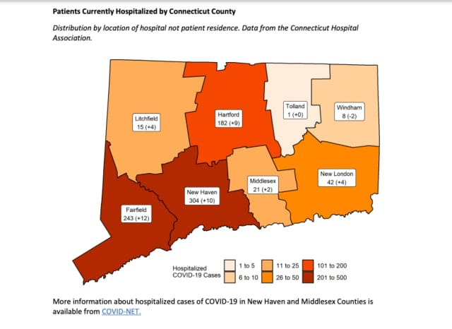 A look at CT COVID cases by county.