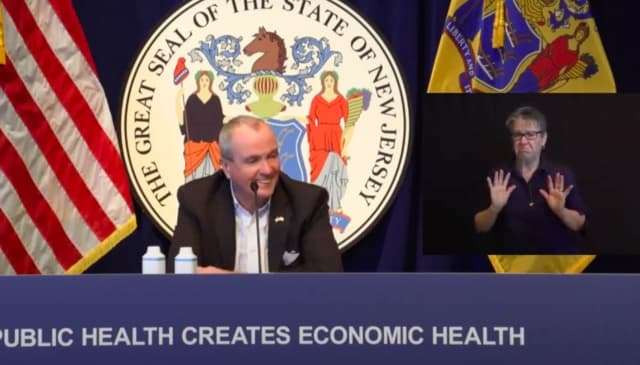 """""""I'm a big boy,"""" Gov. Phil Murphy said in response to the women who heckled him at a restaurant Saturday."""