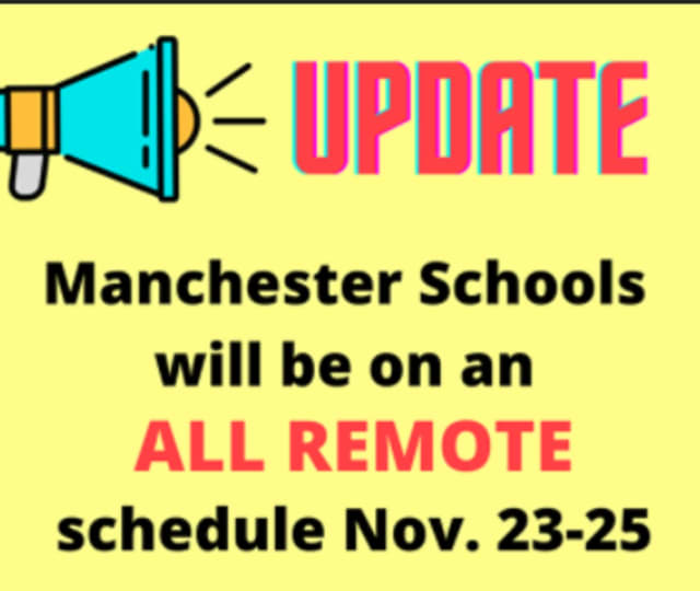 Manchester Schools returned to all-remote learning this week due to an increase in positive COVID-19 cases.