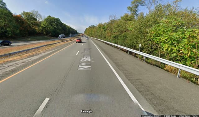 New York State Route I-87 near mile market 58.2, where the fatal accident took place