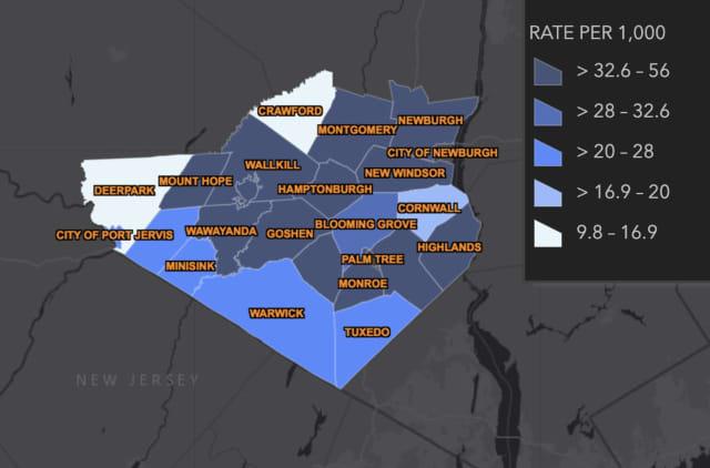 The breakdown of Orange County COVID-19 cases in Orange County on Monday, Nov. 30.