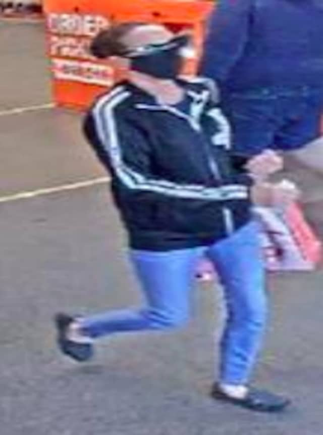 A surveillance image of the wanted woman.