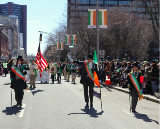 A previous St. Patrick's Day parade in New Haven.