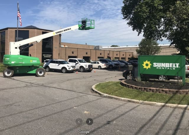 A man was injured after being trapped between two industrial lifts.