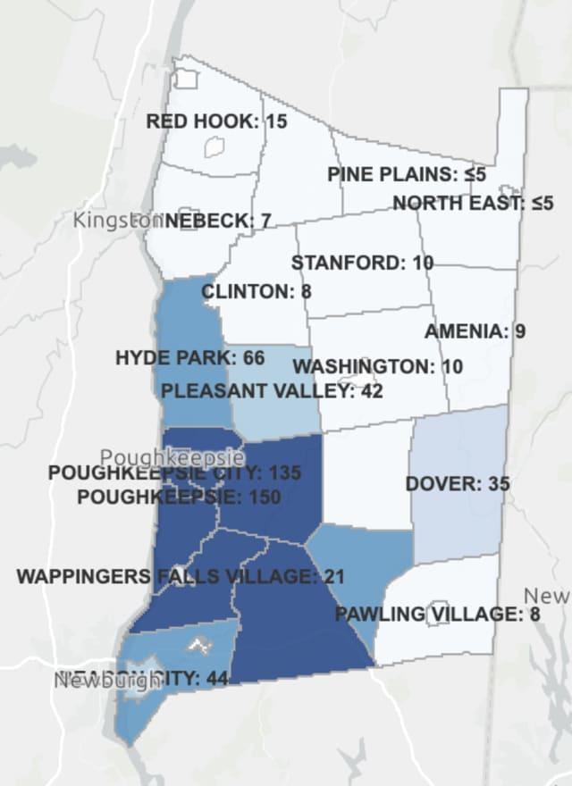 The Dutchess County COVID-19 breakdown on Monday, Dec. 21.