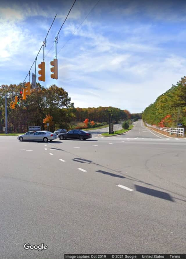 William Floyd Parkway and Yaphank Woods Road in Yaphank.
