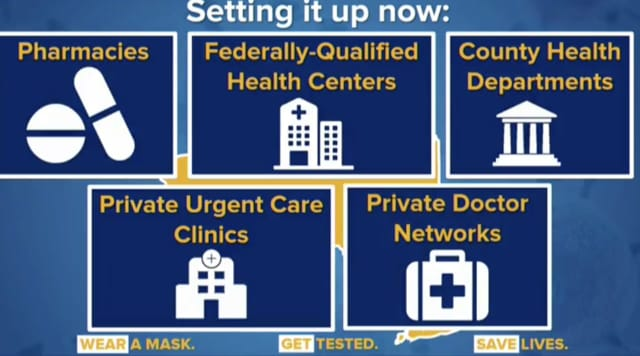 New York is in the process of setting up new sites to administer COVID-19 vaccines.