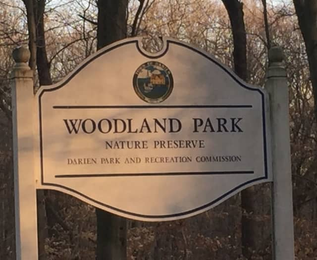 An armed man was taken into custody after being spotted at Woodland Park in Darien.