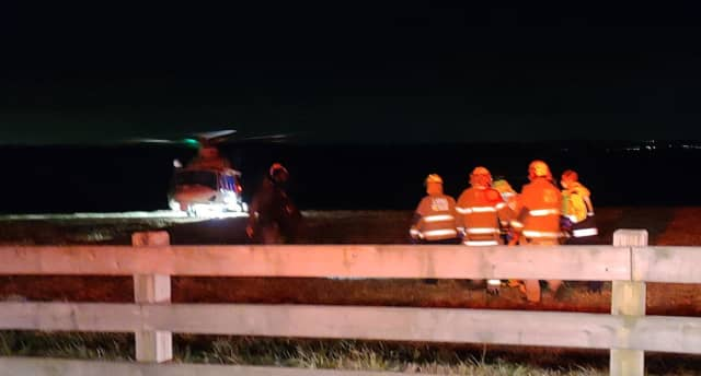 A 28-year-old worker was airlifted with serious injuries Wednesday evening after falling approximately 20 feet from the roof of a Long Valley home onto a deck below.