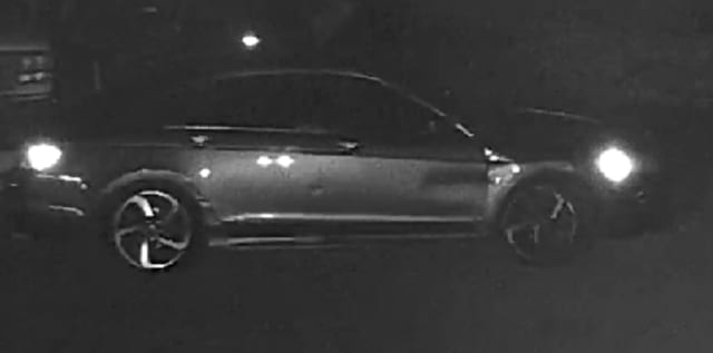 Police in Northampton County are searching for clues after four men accused of stripping stolen car parts fired over a dozen rounds at a witness who spotted them, authorities said.