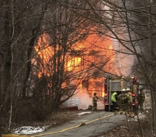 A home built in 1900 was a total loss following a three-alarm fire.