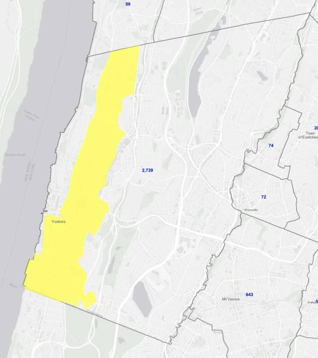 "The Yonkers designated COVID-19 ""yellow zone."""
