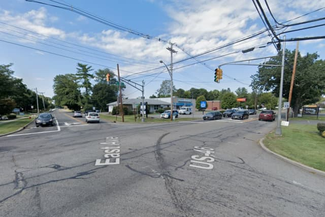 Intersection of East Avenue and Route 182/46 in Hackettstown