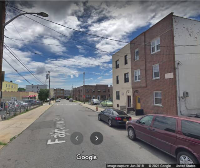 The area of Fairview Street in Yonkers where the shooting occurred.