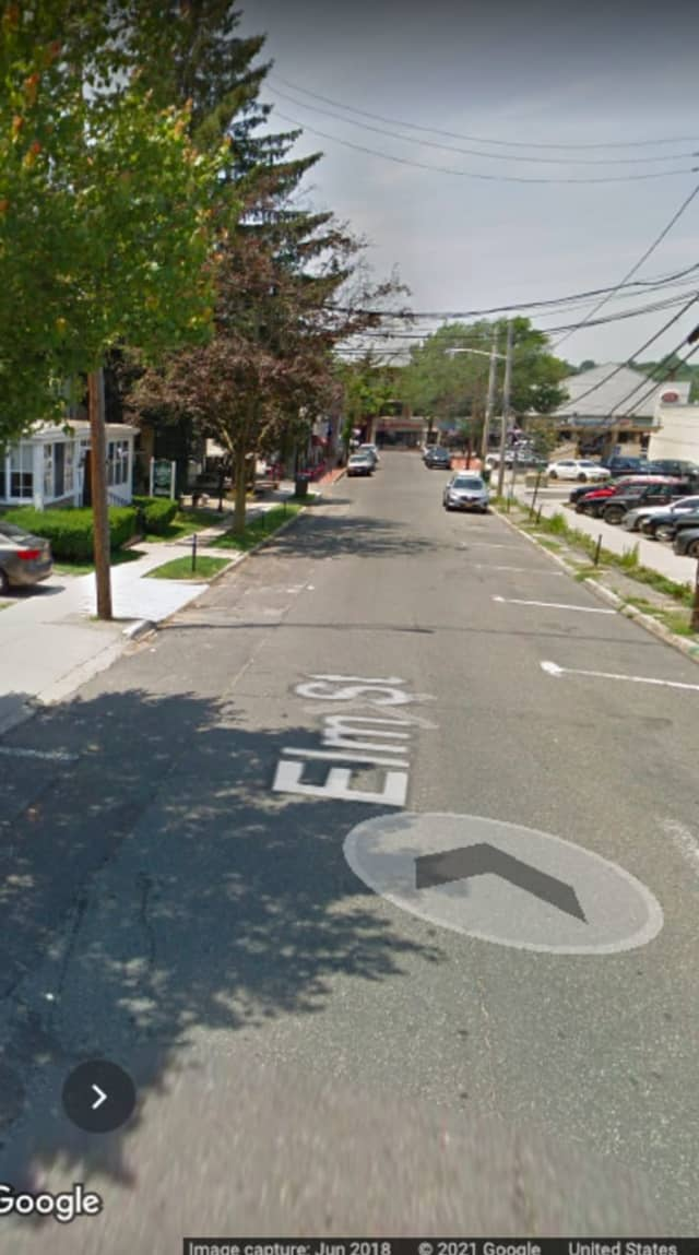 The area of Elm Street in Huntington where the body was found.