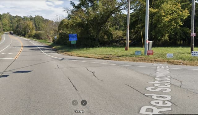 One person was killed in a crash between a school bus and a car in the town of Fishkill.