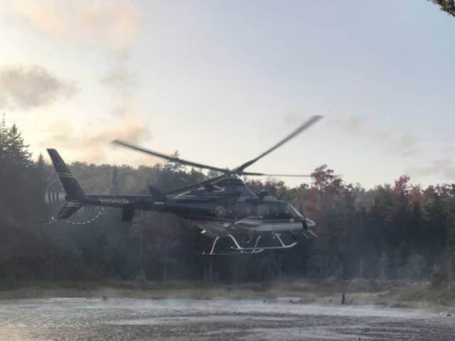 A New York State Police helicopter that had to make a flight path change to avoid snow squalls awoke quite a few Dutchess County residents.