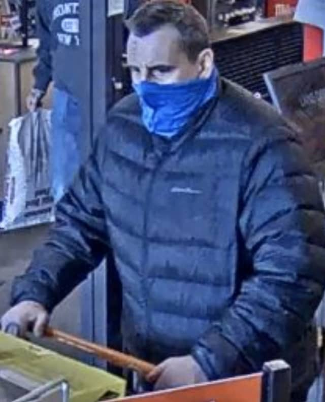 A man is wanted in Suffolk County after allegedly stealing a power washer from Home Depot on Long Island.