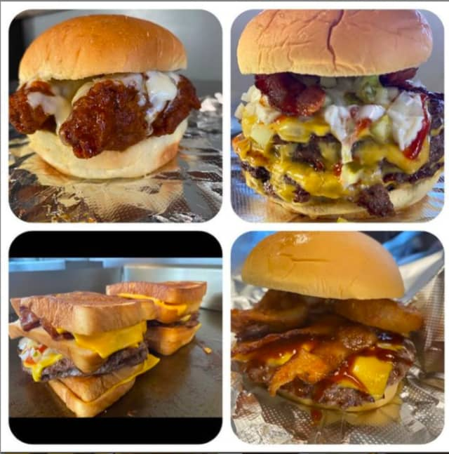 Some of the offerings available at Boxcar Burgers.